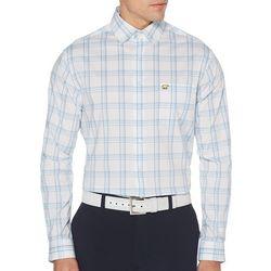 Jack Nicklaus Mens 4 Color Plaid Printed Long Sleeve Shirt