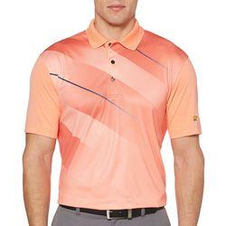 Jack Nicklaus Mens Asymmetrical Print Polo Shirt