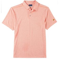 Jack Nicklaus Mens Geometric Jaquard Polo Shirt