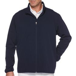 Jack Nicklaus Mens Solid Zipper Golf Jacket