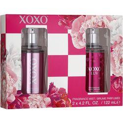 Luv & XOXO Womens Fragrance Mist Set