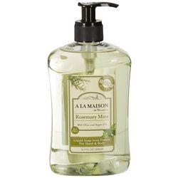 A La Maison Rosemary Mint Hand & Body Liquid Soap