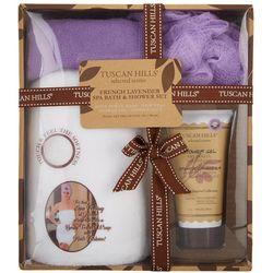 4-pc. French Lavender Spa Bath & Shower Set
