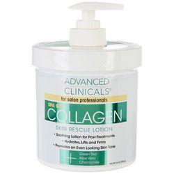 Advanced Clinicals 16 oz Collagen Skin Rescue Lotion