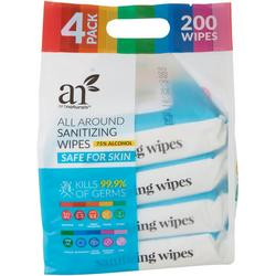4-Pc. Hand Sanitizing Wipes