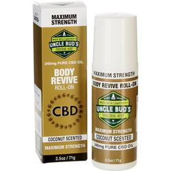 Uncle Bud's 2.5 oz CBD Body Revive Roll-On Oil