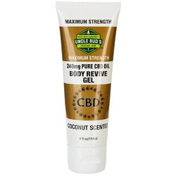Uncle Bud's 4 oz Coconut Scented CBD Oil Body Revive Gel