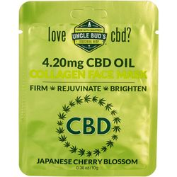 Uncle Bud's CBD Collagen Japanese Cherry Blossom Face Mask
