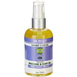 Uncle Bud's 4 oz CBD Massage Body Oil
