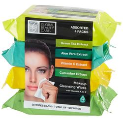 Global Beauty Care 4-Pk. Vitamin Enriched Cleansing Wipes