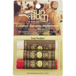 Sun Bum 3 Pk. Sunscreen Lip Balm