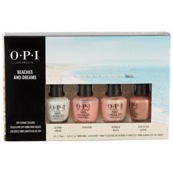 4-Pc. Beaches And Dreams Mini Nail Polish Kit