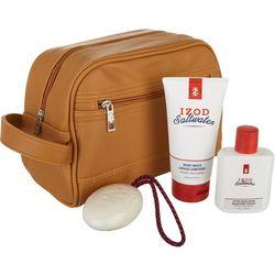 IZOD Mens Saltwater 4-pc. Bath Travel Case Set