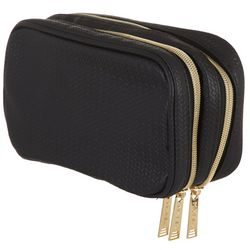 Modella Solid Textured Cosmetic Bag