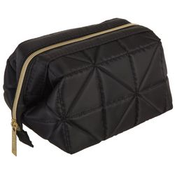 Modella Solid Quilted Geometic Cosmetic Bag