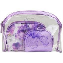 Tahari 3-pc. Iris Print Cosmetic Bag Set
