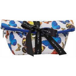 Tahari Butterfly Foldover Zippered Cosmetic Bag