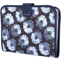 Tahari Blue Floral Hanging Organizer Cosmetic Bag