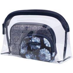 Tahari 3-Pc. Printed Dome Cosmetic Bag Set