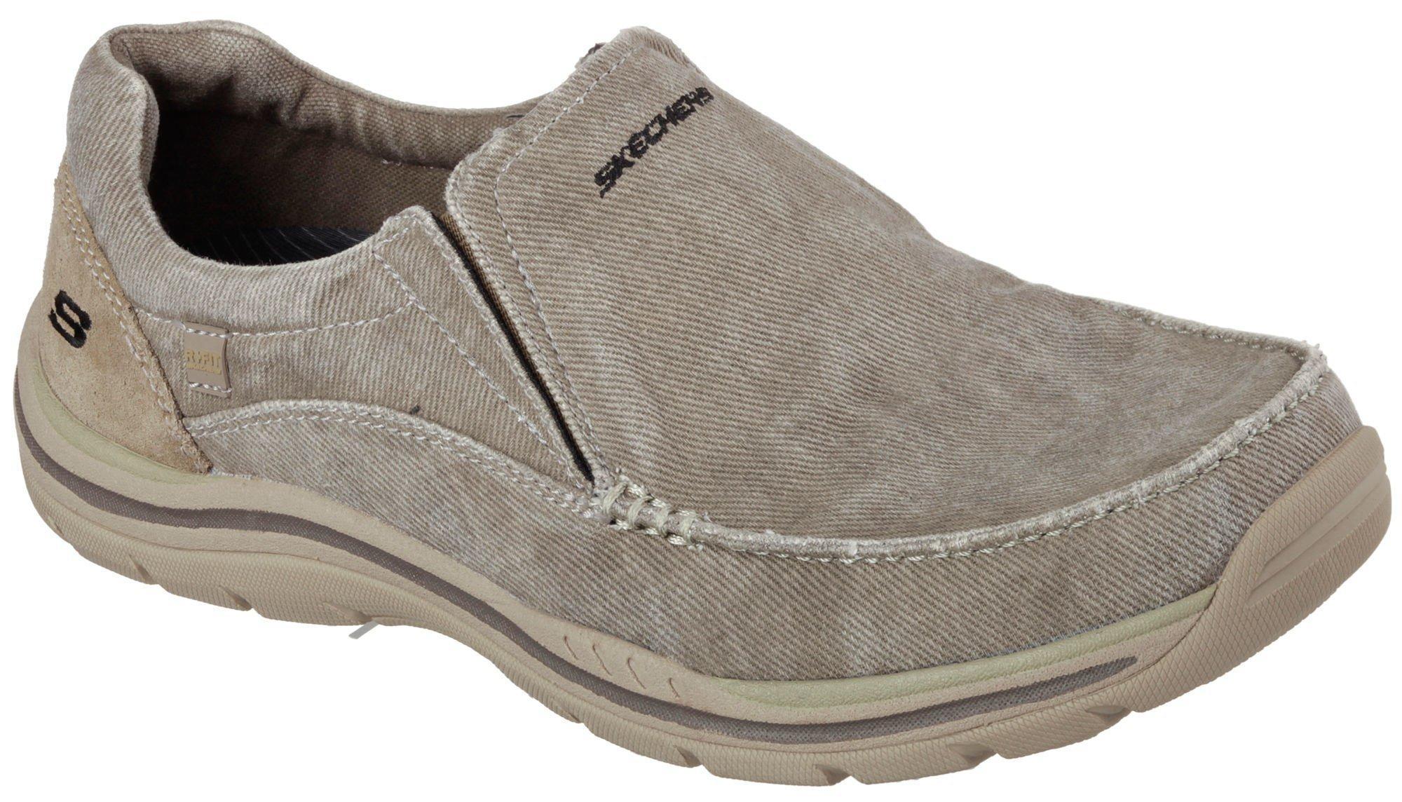 skechers men's slip on shoes