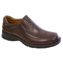 Mens Agent Dark Tan Slip On Loafers