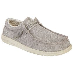 Hey Dude Mens Wally Canvas Casual Shoes