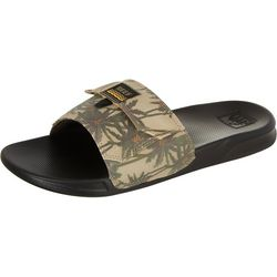 REEF Men's Palm Print Stash Slide