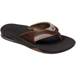 REEF Mens Fanning Leather Flip Flops