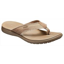 CROCS Santa Cruz Canvas Flip Flops