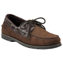 Mens Leeward 2-Eyelet Brown Boat Shoes