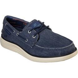 Mens Lorano Navy Boat Shoes