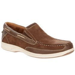 Mens Lakeside Slip On Leather Boat Shoes