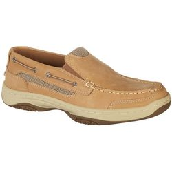 Mens Catamaran Slip On Tan Boat Shoes
