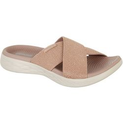 Womens On The GO 600 Glistening Sandal