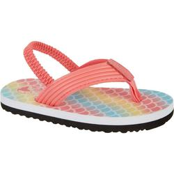 Toddler Girls Shore Mermaid Scale Flip Flops