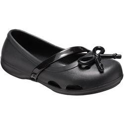 Crocs Girls Lina Bow Charm Flats