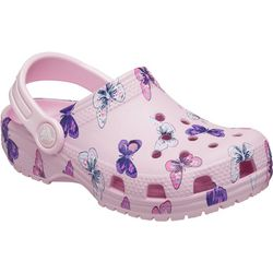 Crocs Kids Classic Butterfly Printed Clogs
