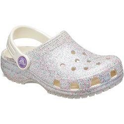 Crocs Toddler Girls Classic Glitter Clogs
