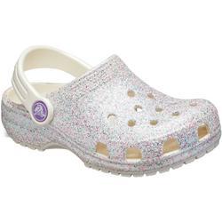 Toddler Girls Classic Glitter Clogs