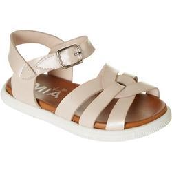 Girls Little Crossed Straps Sandals