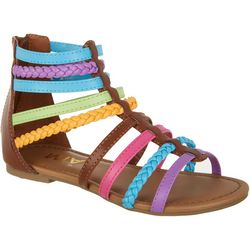 Mia Girls Mikkeline Colorful Gladitor Sandals