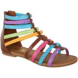 Girls Mikkeline Colorful Gladitor Sandals