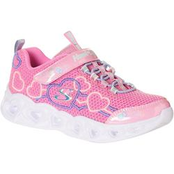 Little Girls Heart Lights Athletic Shoes