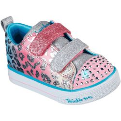Skechers Toddler Girls Twinkle Toes Shuffle Lite Sneaker