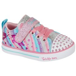 Skechers Toddler Girls Sparkle Lite Magical Rainbow Sneakers
