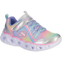 Kids Heart Lights Rainbow Lux Sneakers