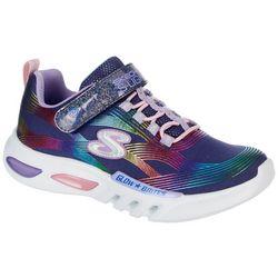 Skechers Big Girls Glow Brites Sneakers