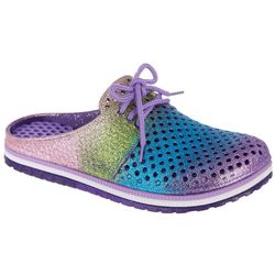Airwalk Girls Colorful Lace Top Glitter Clogs