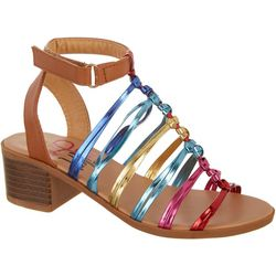 Olivia Miller Girls Colorful Gladiator Sandals