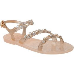 Girls Jelly Rhinestone Embellished Sandals